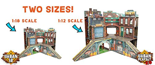 ReadySetz Detailed Graphics Play Set and Diorama - No Assembly, Foldable and Recyclable - Great for Toy Photography and Hours of Fun - Play Big, Store Small - Urban 2.0 by ReadySetz (Image #1)