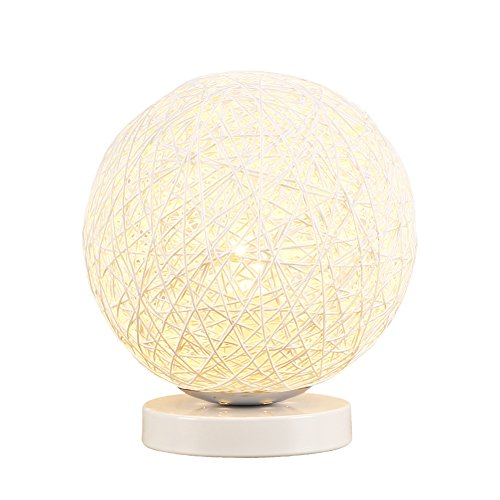 Babali Dimmable Table Light Creative Handcraft Rattan Ball Modern Style Bedside Desk Lamp Lights Novelty Romantic for Bedroom Living Room Baby Room