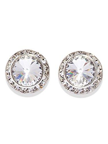 17MM Pierced Swarovski Crystal Earrings,2710PEME,Emerald,One-Size
