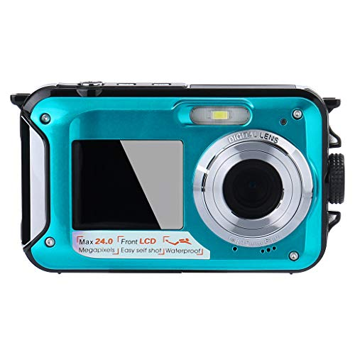GXOK Waterproof Digital Camera -Underwater 24 MP Video Recorder Full HD 1080P DV Recording,Good Tool for Recording