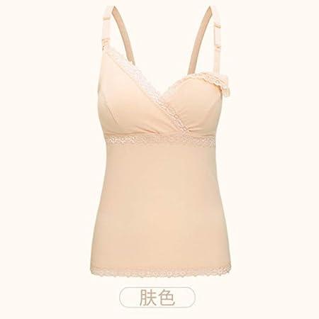 sakkdaull Lactancia Superior Chaleco Mujeres Embarazadas Sling Bottom Camisa de algodón Desgaste Libre Sujetador Ropa para posparto Gran tamaño Suelta Verano Piel Color L: Amazon.es: Hogar