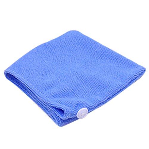 M-Egal Women Bathroom Super Absorbent Quick-drying Hair Towel Microfiber Hair Dry Cap blueA1133