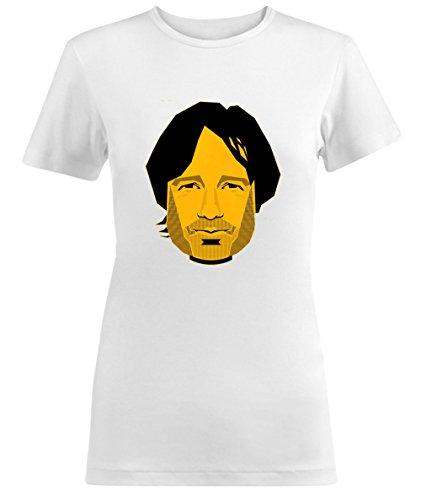 Californication Hank Moody Stencil Portrait Damen T-shirt