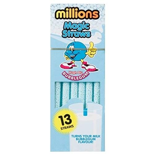 millions Quick Milk Magic Pack of 13 Bubblegum Straws