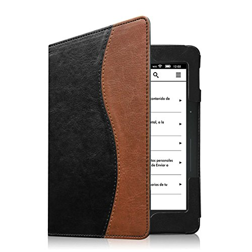Fintie Folio Case for Kindle Voyage - Premium PU Leather Book Style Case Cover with Auto Sleep/Wake (will only fit Amazon Kindle Voyage 2014), Dual Color