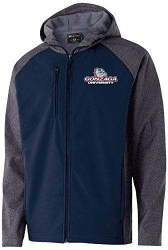 Ouray Sportswear NCAA Gonzaga Bulldogs Men's Raider Soft Shell Jacket, Large, Carbon Print/Navy ()