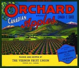 (MAGNET Vernon Canada Orchard Apple Fruit Crate Magnet Art Print)