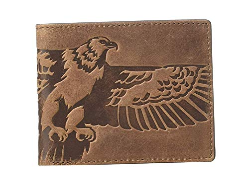 Fossil Men's Eagle Embossed Bifold Brown One Size