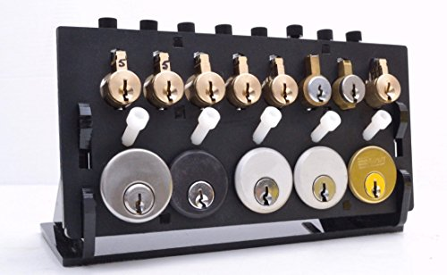 Locksport 13-Port Practice Station with Full Set of 13 Practice Locks, SC Keyway ()