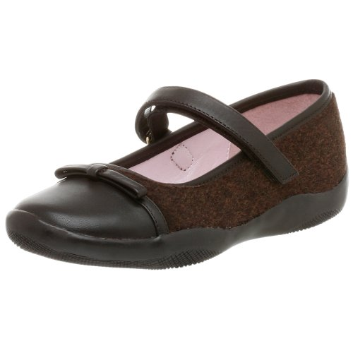 Nina Little Kid Haylie Mary Jane,Fudge Brown Tweed,4 M US Big Kid