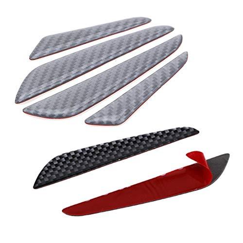 Universale in fibra di carbonio Car Door Edge Guard Strip Scratch Protector Anti-collisione angolo paraurti protettiva striscia decorazione nero