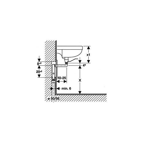 Salida Horizontal: D50-56Mm G1 1//4 D1=32Mm Blanco Alpino 151.120.11.1 Geberit Sif/ón Empotrado Geberit Para Lavabos Con Caja De Montaje De Pared Y Embellecedor