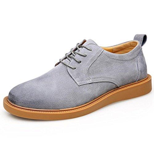 Herren Wildleder Schuhe Fruumlhling/Herbst/Winter Herren Martin Schuhe Casual/Buumlro Formelle Schuhe (Farbe : Grau  Größe : 38) Grau
