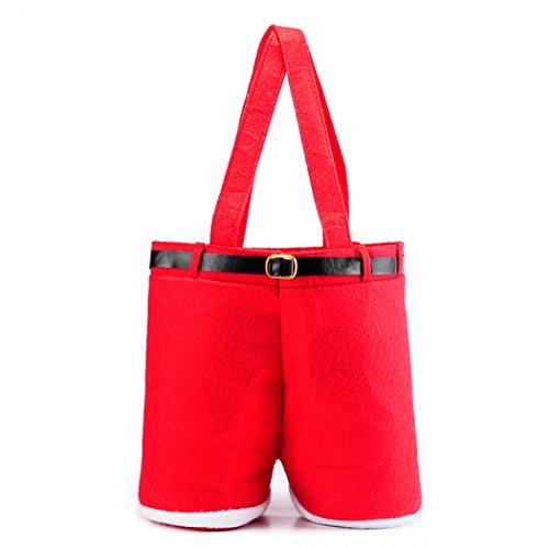 Santa Wine Bottle Gift Bags - 5