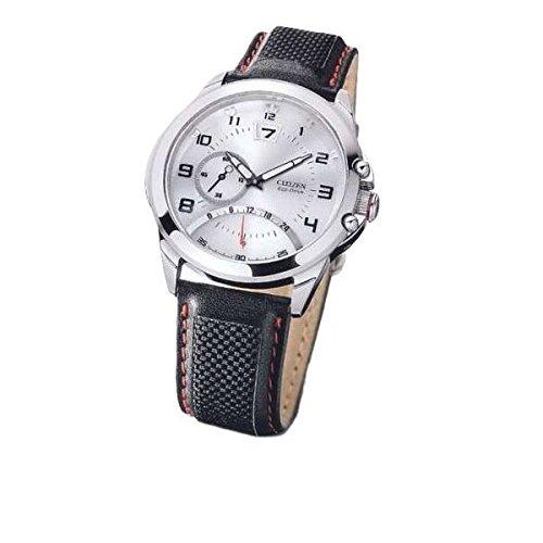 Reloj CITIZEN Citizen Radiocontrolado br0111 - 08B Solar acero quandrante blanco correa piel: Amazon.es: Relojes