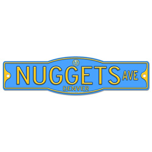 Denver Nuggets Basketball Plastic 4 x 17 Street Sign by WinCraft