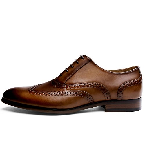 Scarpe Basse Oxford DESAI Marrone Nero Brogue Marrone Stringate Uomo fxaOwdq
