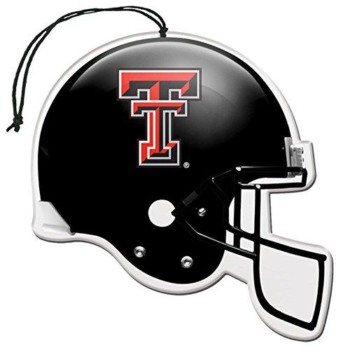 [해외]라이센스 NCAA 텍사스 테크 레드 레이더 뉴카 향기 헬멧 모양 공기 청정기 3 팩 세트 (선물 상자 포함)/Licensed NCAA Texas Tech Red Raiders Nu-Car Scent Helmet Sha