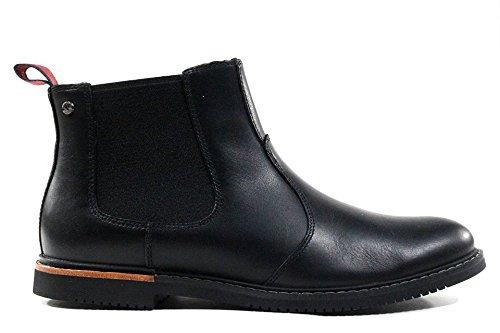Men Black Leather Boots (Timberland Men's EK Brook Park Chelsea Boot,Black Smooth,9 M US)