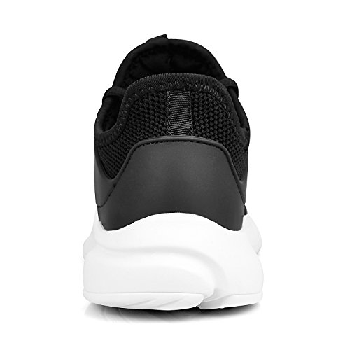 Sports Trainers Black White ZOCAVIA Girls Women for Casual Walking Shoes Lightweight Running Athletic fOpRzwpq