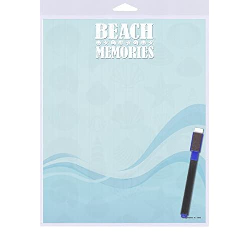 "(SJT40922) Beach Memories (seashells and blue wave design) Dry Erase Memo Board 8"" x 10"" hot sale"