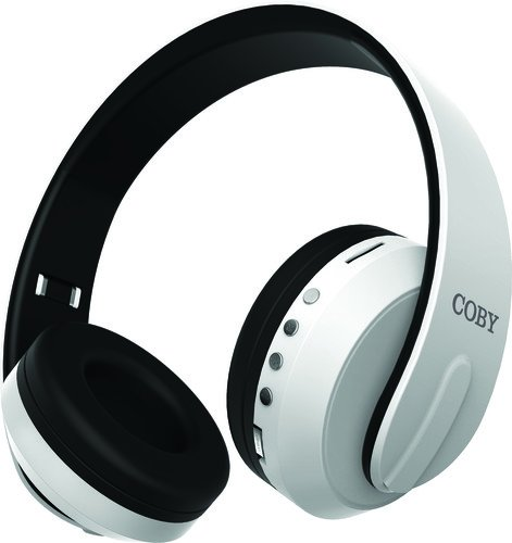 COBY Headphone,Bluetooth,White