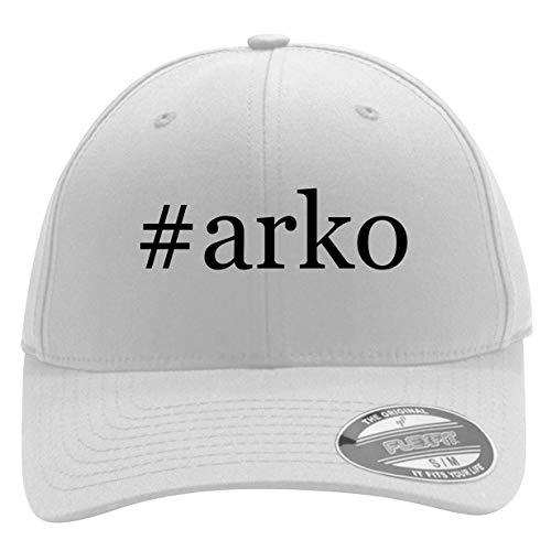 #arko - Men's Hashtag Flexfit Baseball Cap Hat, White, Large/X-Large