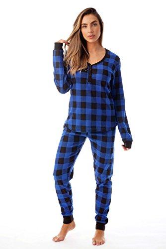 New Plaid Pants - #followme Buffalo Plaid 2 Piece Base Layer Thermal Underwear Set for Women 6372-10195-NEW-ROY-XXL