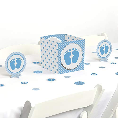 Big Dot of Happiness Baby Feet Blue - Baby Shower Centerpiece & Table Decoration Kit]()