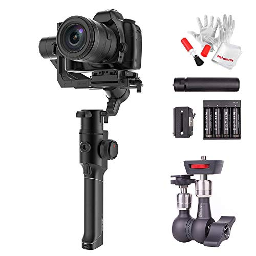 """MOZA Air 2 3-Axis Stabilized Handheld Gimbal for Mirrorless Camera, DSLR Camera, 16-Hour Long Working Time, """"4-Axis"""" 8 Follow Modes, 9lbs Payload Capacity, with Lennon LA3 Strong Magic Arm Holder"""