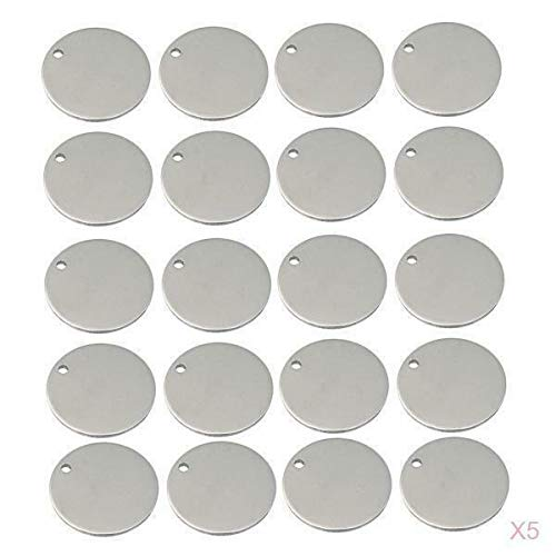 100x Round Blank Stamping Charm Flat Tag Jewelry Making DIY 12mm