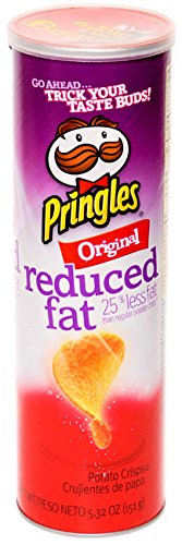 Pringles Light - Pringles Super Stack Potato Crisps, Original, Reduced Fat, 5.32 Oz (Pack of 6 Cans)
