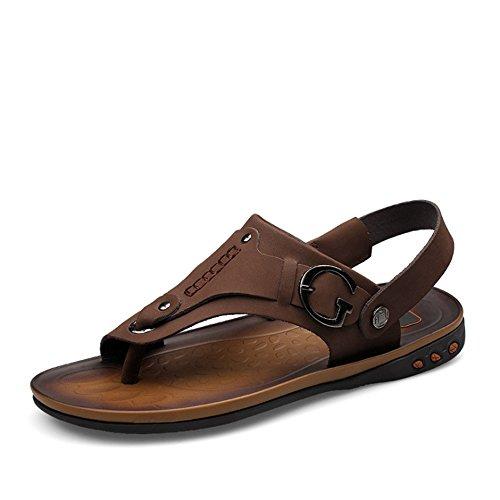 2 0 Sport Sandalo Aperta Da 0 spiaggia Pantofole In Marrone Pelle pantofole Dimensione Colore All'aria Uomo Pantofole 3 42 E EU Comfort 27 Marrone Wagsiyi Casual CM 24 Scarpe Per da wa8qpp