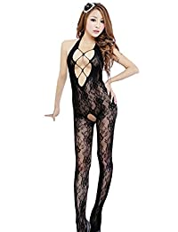 Kmety Women's Mesh Fish Net Body Stocking Lingerie Bodysuit Nightwear