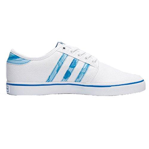 adidas Performance Men's Seeley Fashion Sneaker, White/Blue Bird/White, 8 M US