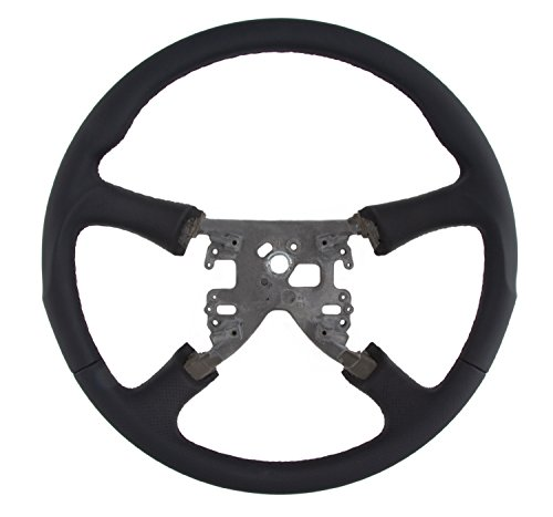 Grant 61034 Replacement Steering Wheel (Revolution Style GM Black Leather Wrapped OEM Airbag), 1 Pack (Leather Steering Wheel Wrapped)