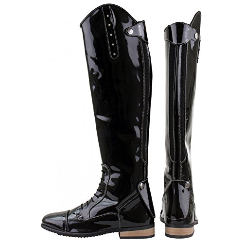 3 Patent Diamante Showing Outdoor Black Equi 8 Ladies Bonny Horka Long Competition Jumping Riding Leather Horse Boots Sizes ZxqAftEw