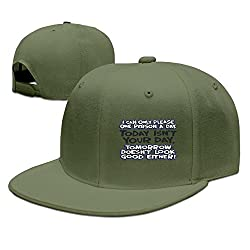 XiaoHans Mens I Can Only Please One Person A Day Casual Style Football ForestGreen Caps Hats Adjustable Snapback