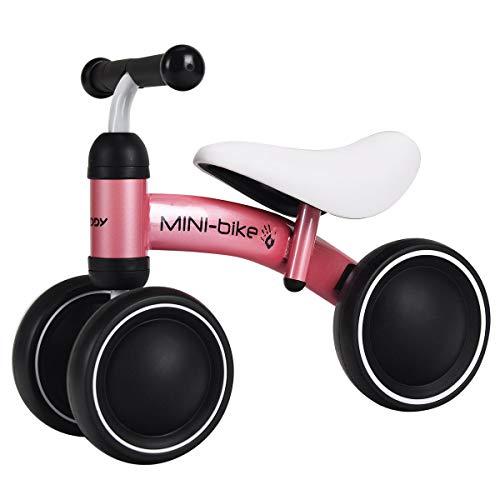 Costzon Baby Balance Bikes, Mini Bike Bicycle, Children Walker Toys Rides for 18-36 Months No Pedal Infant 3 Wheels Toddler Bike (Pink)