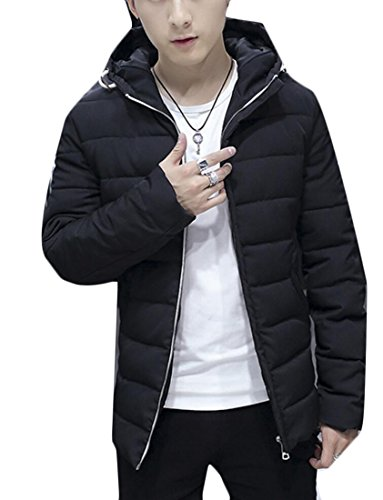 Men's Down Black Generic Coats Hoodies Casual Puffer Down q6BdEw