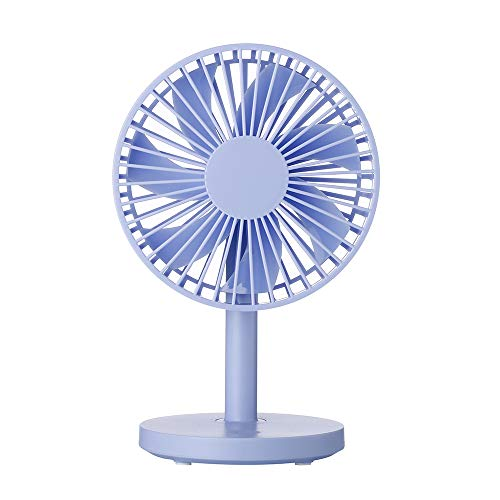 (HDLWIS USB Desktop Fan, Innovative Structure, Three-Speed Adjustable Wind Speed, Natural Breeze, Lightweight and Portable USB Charging Fan,Blue)