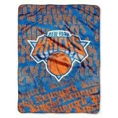 "Knicks 46""x 60"" NBA Micro Raschel Throw- Redux Series Plush Blanket ~CecietCela by Northwest Enterprises"