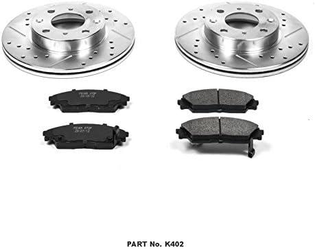 Power Stop K402 Front Brake Kit with Drilled//Slotted Brake Rotors and Z23 Evolution Ceramic Brake Pads