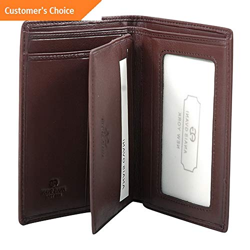 Sandover Dasein Mens Genuine Smooth Leather Wallet 2 Colors Mens Wallet NEW | Model LGGG - 10595 ()