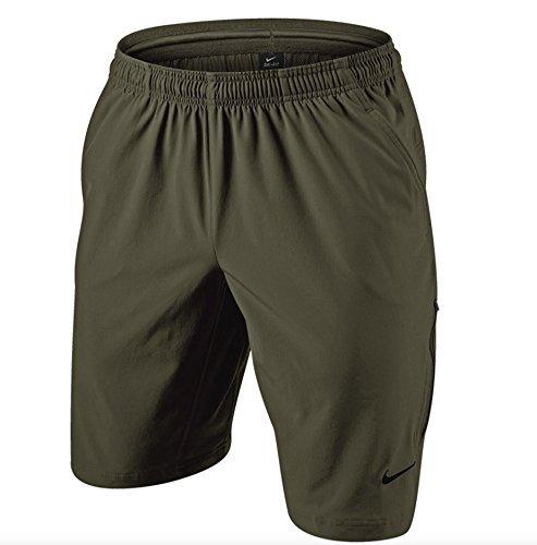 - Nike Men's NET 11 Woven Tennis Shorts (XX-Large, Cargo Khaki/Black)