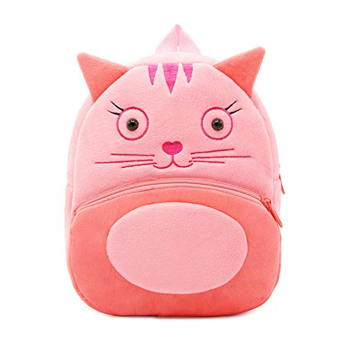 Abshoo Zoo Toddler Kids Backpacks Cute Plush Little Girls Boys Animal Backpacks (Cat)