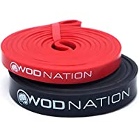 WOD Nation Pull up Assistance Bands Best for Pullup Assist, Chin Ups, Resistance Band Exercise, Stretch, Mobility Bench Work & Serious Fitness