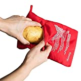 4 Pack of Reusable Microwave Potato Cooker Potato Pouch Cooker Red Microwave Potato Cooker Bag Perfect Potatoes in Just 4 Minutes