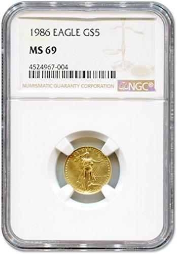 1986 American Gold Eagle (1/10 oz) $5 NGC MS-69
