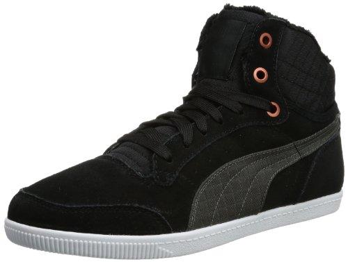 Glyde Fur schwarz 01 Court Puma Donna Nero Wn's Alte Sneaker EqdgTng